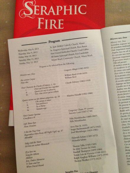 Cathedral Classics program