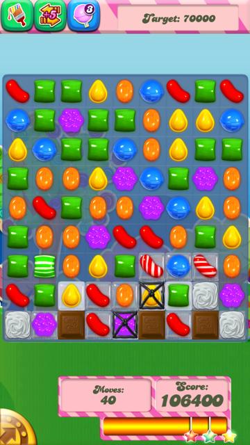 Candy Crush screen