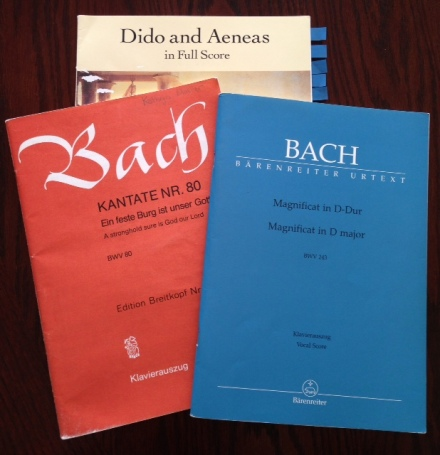 Bach and Purcell scores
