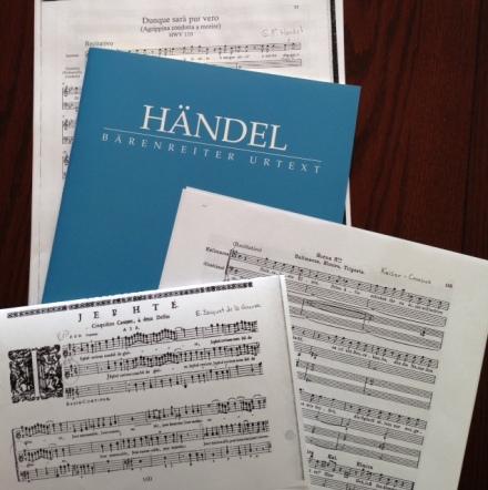 Handel, Keiser, Jacquet de la Guerre scores