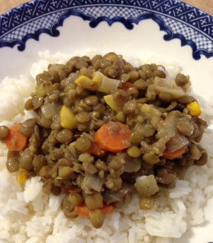 Sweet and Sour Lentils