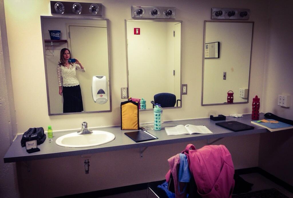 inside a dressing room