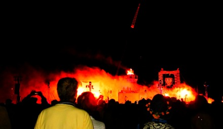 URN in flames