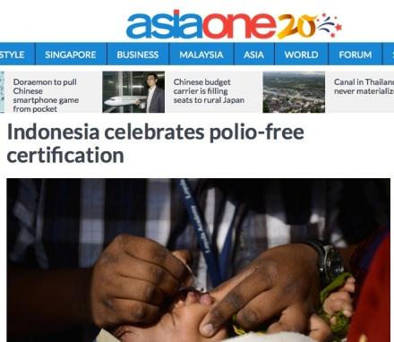 Indonesia Polio headline